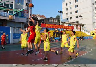 2013年1月双德赢下载矿业与县法院篮球友谊赛